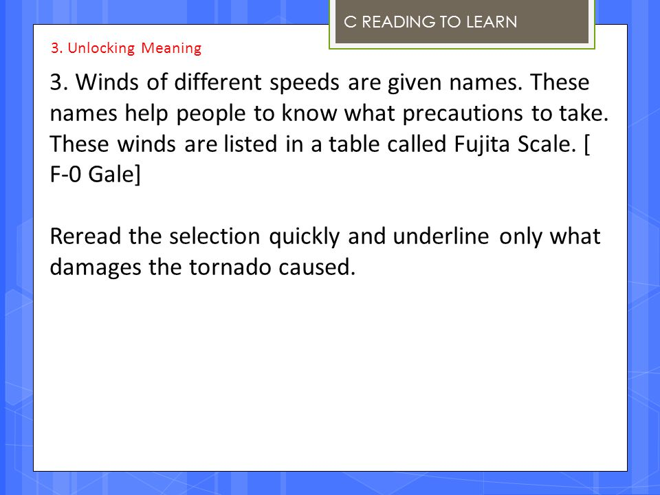 These winds are listed in a table called Fujita Scale. [ F-0 Gale]